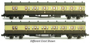 Dapol 2P-003-007 N Gauge GWR B Set Coach Pack 6451/6452