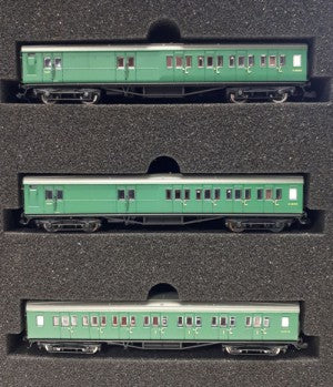 Dapol 2P-012-551 N Gauge Maunsell SR Green 3 Coach Set 392