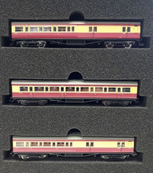 Dapol 2P-012-800 N Gauge Maunsell Crimson/Cream 3 Coach Set 398