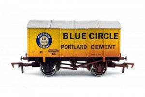 Dapol 4F-013-123 OO Gauge Gunpowder Van Blue Circle 165 Weathered