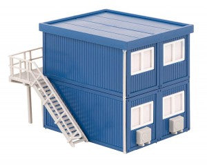 Faller 130134 HO Gauge Building Site Offices (Blue)