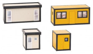 Faller 130136 HO Gauge Building Site Offices (Grey/Yellow)