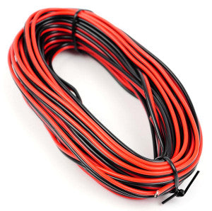 Gaugemaster GM09RB Red/Black Twinned Wire (14x0.15mm) 10m