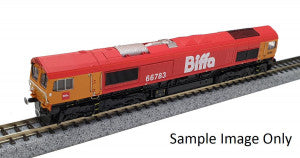 Gaugemaster GM2210102 N Gauge GBRf Biffa Class 66 No 66783 Flying Dustman