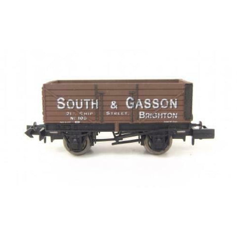 Gaugemaster GM2410101 N Gauge 7 Plank Wagon South & Gasson 105 Brighton