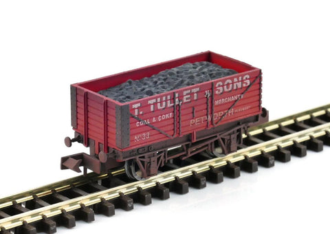 Gaugemaster GM2410104 N Gauge 7 Plank Wagon Tullet & Sons Weathered