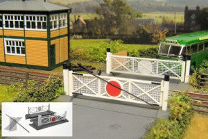 Gaugemaster GM404 OO Gauge Fordhampton Single Track Level Crossing Plastic Kit