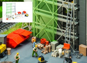 Gaugemaster GM417 OO Gauge Fordhampton Building Site Accessories Kit