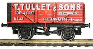 Gaugemaster GM4410203 OO Gauge 7 Plank Wagon Tullet & Sons
