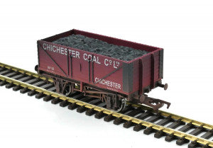 Gaugemaster GM4410206 OO Gauge 7 Plank Wagon Chichester Coal (Wthrd)