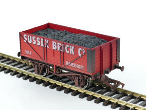Gaugemaster GM4410208 OO Gauge 7 Plank Wagon Sussex Brick Co (Weathered)