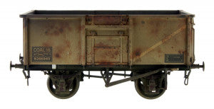 Gaugemaster GM7410303 OO Gauge 16t Mineral Wagon BR Grey 563824 Weathered