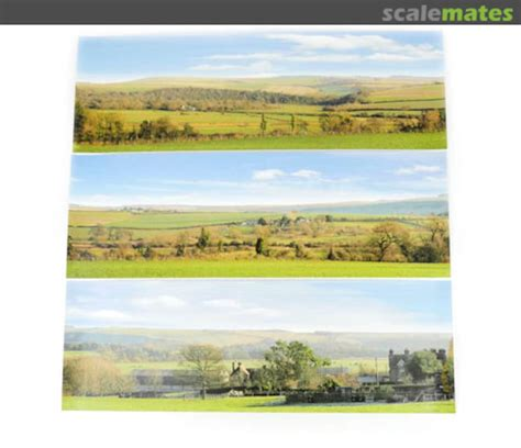 Gaugemaster GM752 N Gauge Countryside Small Photo Backscene (1372x152mm)