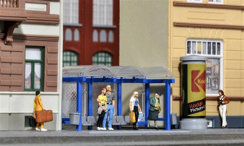 Kibri 38142 HO/OO Gauge Deco Set Bus Stop Kit