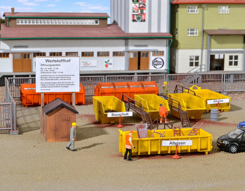 Kibri 38155 HO/OO Gauge Waste Recycling Centre Accessories Kit