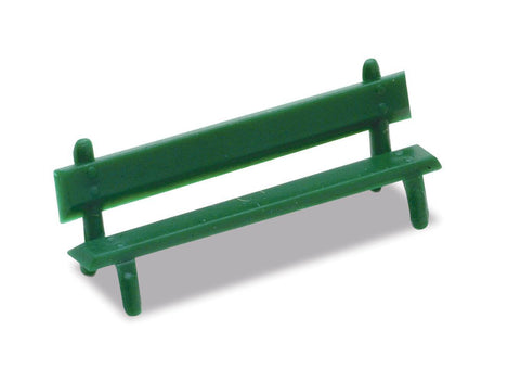 Peco LK-25 OO Gauge Platform Seats (Green)(Pack 12)