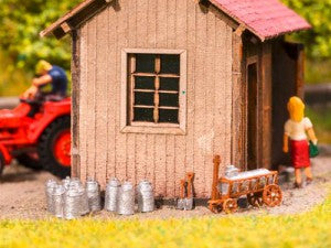 Noch 13725 HO/OO Gauge Dairy Farming Set 3D Mini