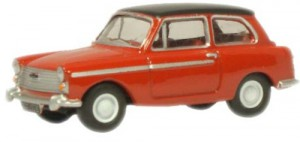 Oxford Diecast 76AA001 OO Gauge Austin A40 MkII Agate Red/Black