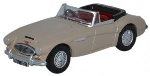 Oxford Diecast 76AH3005 OO Gauge Austin Healey 3000 Metallic Golden Beige