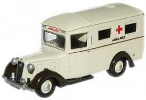 Oxford Diecast 76AMB001 OO Gauge Austin 18 Ambulance Rolls Royce Works