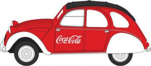 Oxford Diecast 76CT007CC OO Gauge Citroen 2CV Coca Cola