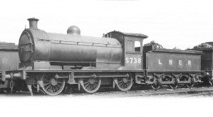 Oxford Rail 76J26001XS OO Gauge LNER 0-6-0 Class J26 5738 (DCC-Sound)