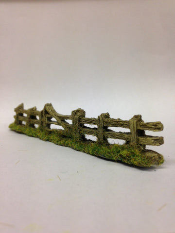 Javis PF5 OO Gauge Old Grey Weathered Fence with Gate