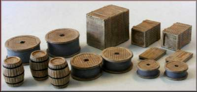 Knightwing PM108 OO/HO Gauge Crates/Barrels/Sacks Plastic Kit