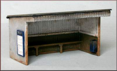 Knightwing PM110 OO Gauge Station Halt/Shelter (Flat Roof) Plastic Kit