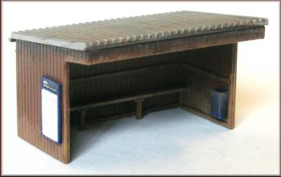 Knightwing PM111 OO Gauge Station Halt/Shelter (Corrugated Roof) Plastic Kit