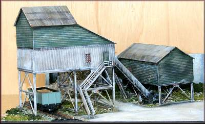Knightwing PM113 OO Gauge Mine Top Buildings Plastic Kit
