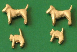 Springside A2 OO Gauge Whitemetal Cats & Dogs (UNPAINTED)