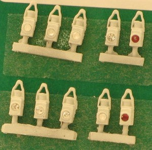 Springside DA19/10 OO Gauge BR White Head & Tail Lamps (Pack 10)