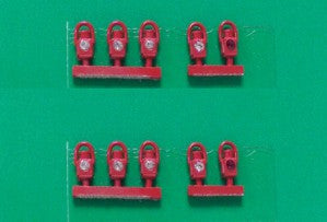 Springside DA2/10 OO Gauge GWR Head & Tail Lamps Red (Pk 10)