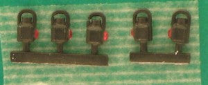 Springside DA20/5LMS/B OO Gauge Tail Lamps LMS Black (Pack 5)
