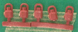 Springside DA4b/5 OO Gauge Whitemetal LMS Maroon Head & Tail Lamps (Pack 5)