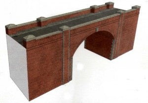 Superquick A14 OO Gauge Red Brick Bridge/Tunnel Entrance Card Kit