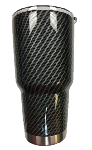Black Carbon Fiber Tumbler Warehouse Tumbler