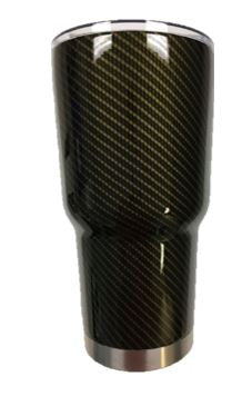 Gold Carbon Fiber Tumbler Warehouse Tumbler