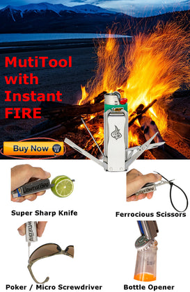 LighterBro Pro MultiTool with Instant FIRE