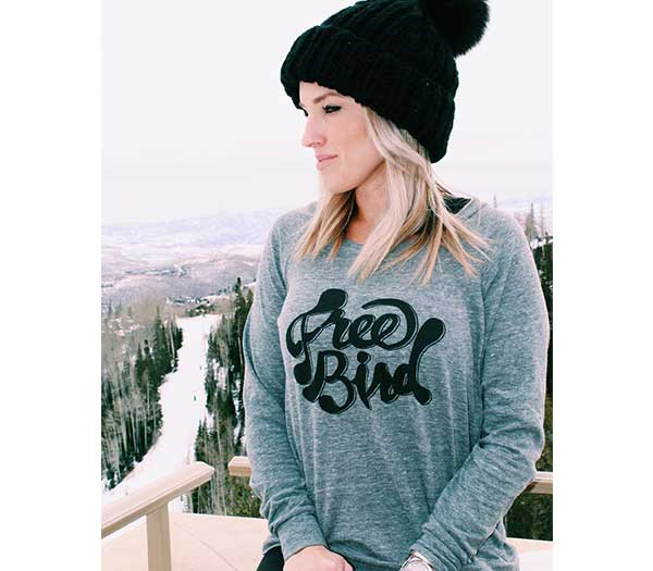 Free Bird- L/S Slouchy Pullover