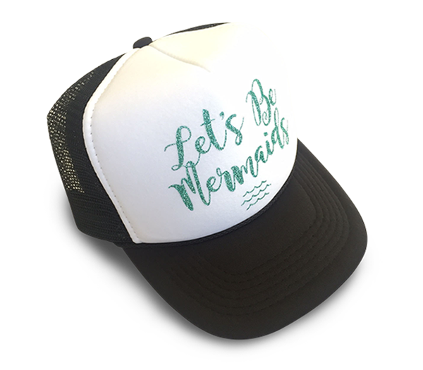 Let's Be Mermaids YOUTH Trucker Hat
