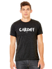 Cardiff Mens T-Shirt- in Black Heather