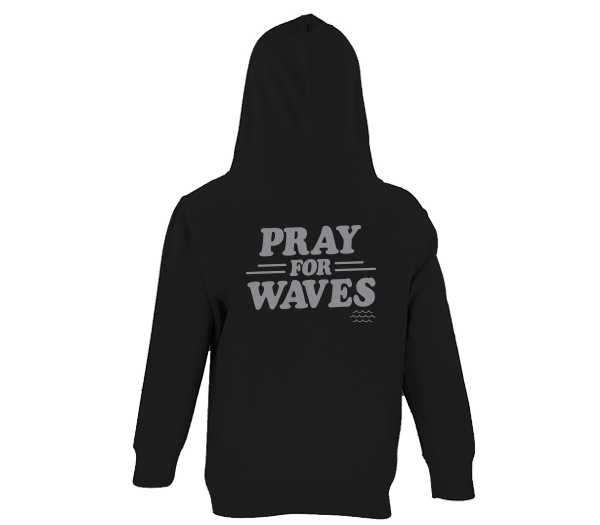 Pray for Waves - Toddler Zippered Hooded Sweatshirt