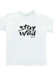 Stay Wild - Fine Jersey T-Shirt -  in White