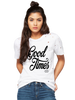 Good Times Distressed Tee - in white