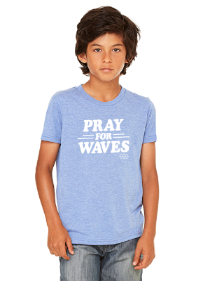 Pray for Waves Kids T-Shirt