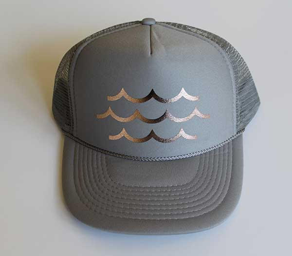 Waves Rose Gold Trucker Hat