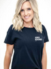 Womens Deconstructed Favorite Tee - Adios Beaches - Black
