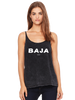 Womens Slouchy Tank - Baja - in mineral wash Black